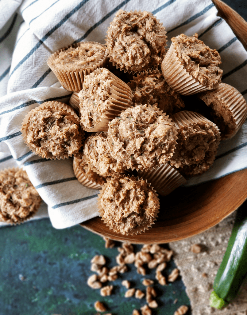 These zucchini muffins are both Paleo and vegan, which means they're gluten-free, grain-free, dairy-free, and egg-free! Not only are these zucchini muffins healthy, they have perfect texture and amazing flavor. Shh, no one has to know they're healthy!