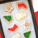 Santa and the kids will love these healthy Christmas cut out cookies. They're fun to make with the kids, and they have wonderful flavor and texture. Only you have to know they're grain-free, low in sugar, and easily made paleo and vegan!