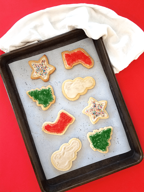 Made from almond flour with coconut cream frosting, these cutout cookies are gluten-free, grain-free, Paleo / Primal, and can be made vegan. They're also low-carb since they're made with just a little honey instead of sugar!