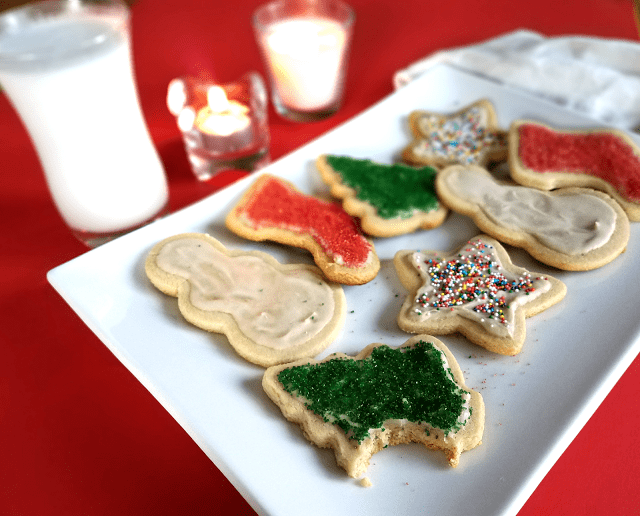 Yummy cut-out cookies that are grain-free, gluten-free, Paleo, low-sugar, low-carb and vegan! Made with coconut cream frosting.