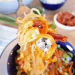Buffalo Blue Cheese Spaghetti Squash combines the flavors of football season in a healthy twist! Not only does the spaghetti squash provide lots of vegetables, but it is grain-free, gluten-free, low-carb / low-glycemic, keto diet-friendly and Primal.