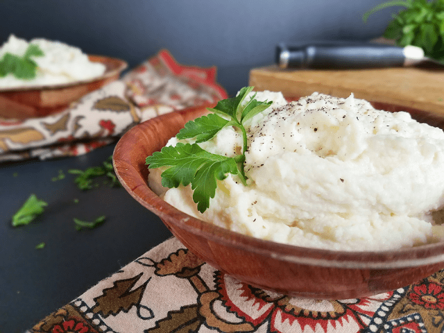 Such a delicious and healthy alternative to mashed potatoes that is grain-free, gluten-free, vegan, low-carb / low-glycemic, keto-diet friendly and can be made Paleo / Primal