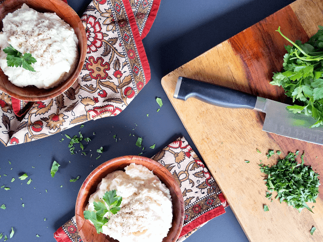 This cauliflower mash is gluten-free, grain-free, low-carb, low-glycemic, keto diet-friendly, vegan and can be made Paleo / Primal. It's a delicious and easy alternative to mashed potatoes!