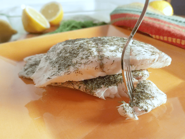 This white fish is so quick and easy to make! Steaming it keeps it moist and flavorful.
