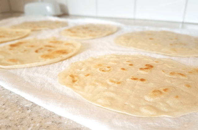 Once cool, these grain free almond flour tortillas are delicious and pliable, yet vegan, Paleo and low-carb!