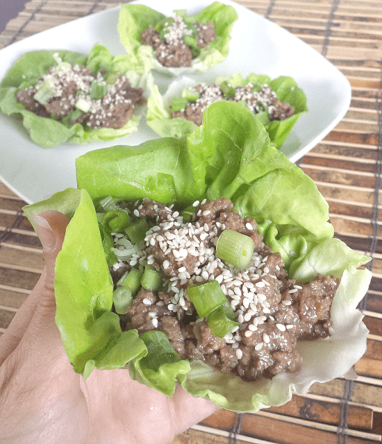 These Korean Beef Lettuce Wraps are easy, healthy and bursting with flavor! Honey instead of sugar makes the sauce flavorful without all of the sugar that is commonly found in Korean BBQ. Grain-free, gluten-free, dairy-free, nut-free, nightshade-free, low-carb, Paleo, and ready in less than 30 minutes.