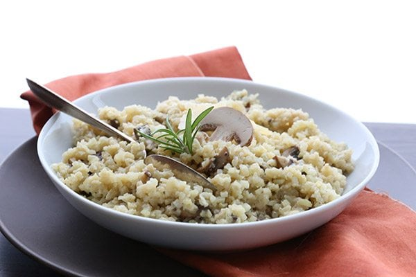 Low Carb Cauliflower Mushroom Risotto by All Day I Dream About Food