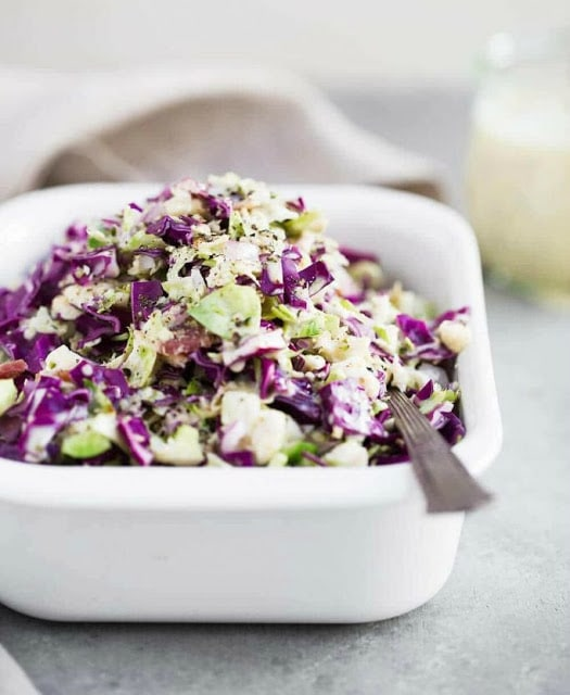 Paleo Brussels Sprout Slaw by The Movement Menu