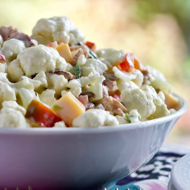Cauliflower Pepper Salad by Homemade Food Junkie