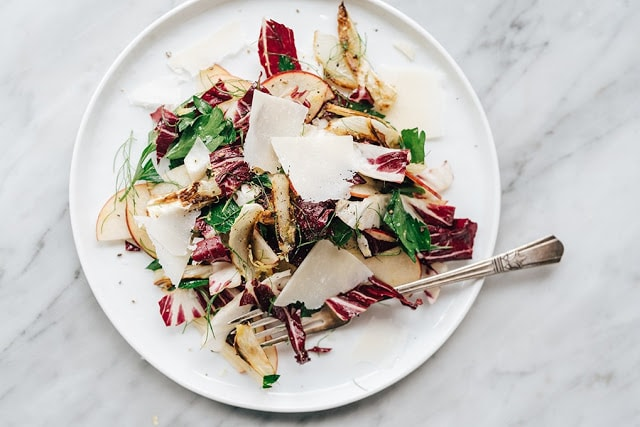 Roasted Fennel Salad with Apple & Radicchio by Our Salty Kitchen