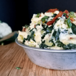 This mouthwatering mashed cauliflower with kale and bacon is an allergy-friendly and low-carb twist on the traditional Irish Colcannon! Bacon and leeks add so much flavor that nobody would know that cauliflower has replaced potatoes or that it's gluten-free, dairy-free, nightshade-free, low-carb, keto friendly, Paleo and Whole30 compliant!