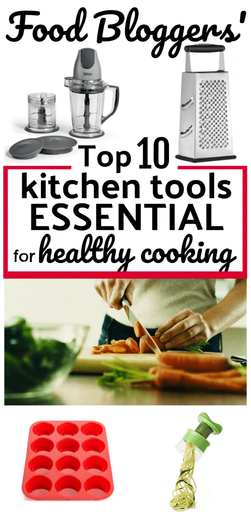 Cooking healthy meals can be easy when you have the right tools! Set yourself up for success with these 10 surprisingly affordable kitchen tools and gadgets recommended most often by food bloggers.
